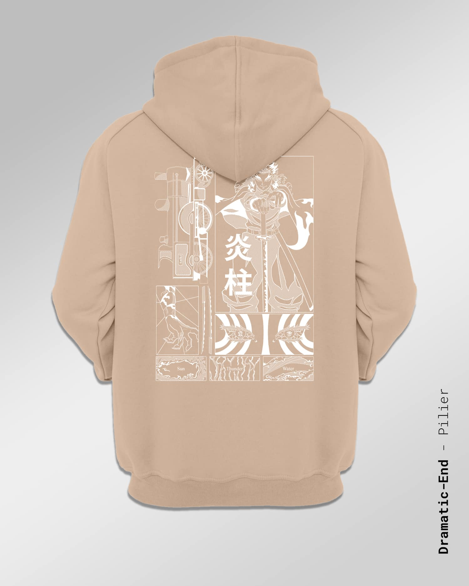 Hoodie made in France l'univers de Demon Slayer